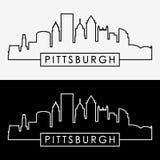 匹兹堡地平线 免版税库存照片