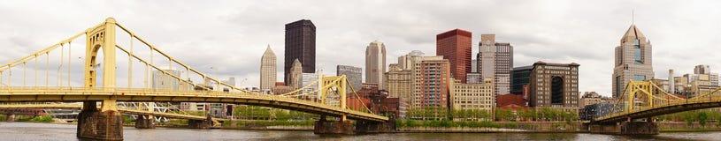 匹兹堡宾夕法尼亚街市市地平线Allegeny河 库存照片