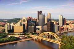 匹兹堡市地平线 库存图片
