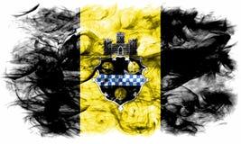 匹兹堡市烟旗子,宾夕法尼亚状态,美国  向量例证