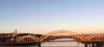 匹兹堡桥梁 库存图片