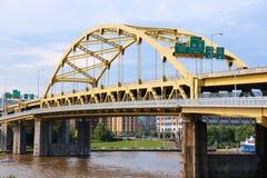 匹兹堡桥梁 免版税库存图片