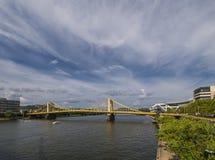 匹兹堡桥梁  库存照片