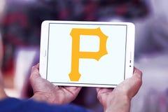 匹兹堡盗版棒球队商标 库存照片