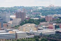 匹兹堡,从登上华盛顿的宾夕法尼亚地平线  库存图片
