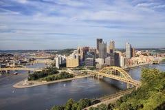 匹兹堡-从山的看法在晴天 免版税库存图片