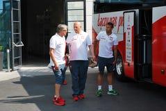 匹配波兰队橄榄球的旅行 免版税库存照片