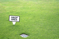 区下落高尔夫球 库存照片