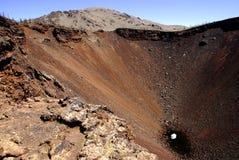 区中央绝种湖蒙古terkh火山 免版税库存图片