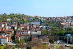 区中心城市住宅斯图加特 免版税库存图片