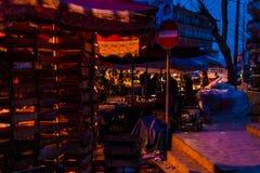 区义卖市场在晚上 图库摄影