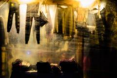 区义卖市场在晚上 免版税库存图片