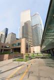 区交易广场在香港 库存照片