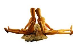 区别问题货币观点 免版税库存照片
