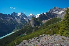 区加拿大Lake Louise 免版税库存照片