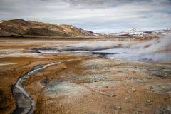 区地热冰岛 库存照片
