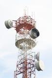 区城市dmitrov莫斯科晚上电信塔冬天 免版税图库摄影