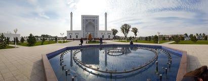 区域的全景在清真寺附近的塔什干未成年人的 免版税库存图片