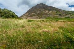 区域的看法在Crummock水,湖区英国附近的 免版税图库摄影