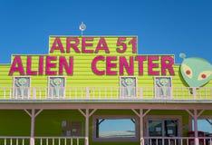 区域51外籍人中心 库存图片