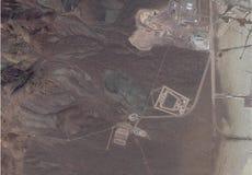 区域51的卫星图象 免版税库存图片