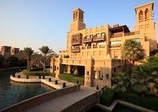区复杂jumeirah madinat 免版税库存照片