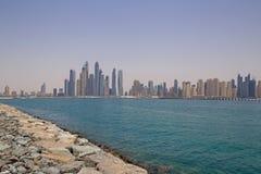 区小游艇船坞在迪拜 图库摄影