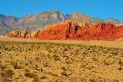 区峡谷保护国家内华达红色岩石 免版税库存照片