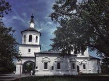 区教会kolarovo老俄国托木斯克村庄 库存图片