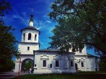 区教会kolarovo老俄国托木斯克村庄 免版税库存照片
