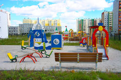 区新城市的幼稚园 库存图片