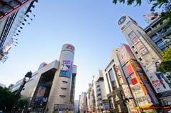 区日本shibuya东京 库存照片