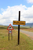 区查出步行者禁止有限的路标 免版税图库摄影