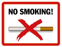 区没有抽烟 免版税图库摄影