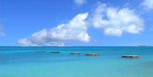 区沿海的aruba 库存照片
