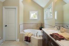 区浴设计重要资料木盆 图库摄影