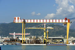 区港口视图 免版税库存照片
