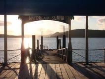 区澳洲白日梦海岛昆士兰码头 免版税库存图片