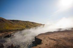 区热量冰岛的山 库存照片