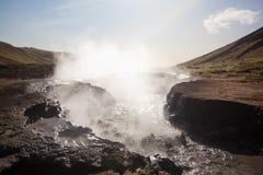 区热量冰岛的山 库存图片