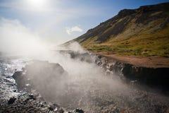 区热量冰岛的山 免版税库存照片