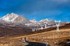 区瓷路四川藏语 免版税库存照片