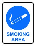 区符号抽烟 免版税图库摄影