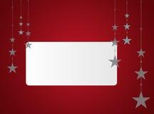 区背景圣诞节文本白色 免版税图库摄影