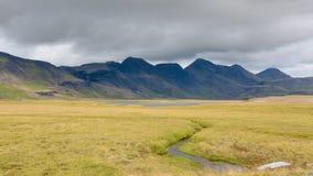 区著名马冰岛冰岛landmannalaugar山流纹岩晃动火山 免版税库存图片