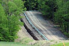 区详细资料气体行业传递途径用管道输送钢黄色 图库摄影