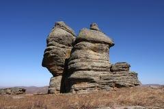 区arshihaty森林风景石头 图库摄影