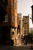 区balat伊斯坦布尔III 免版税库存照片
