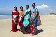 区goa印地安人妇女 库存照片