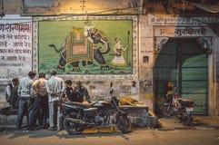 2008区gottic巴塞罗那的barri可以场面西班牙街道 库存图片